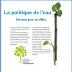 Campagne La politique de l'eau - Plaquette